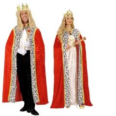 König Königin Edeler Königsumhang Königsmantel Prinz 150cm