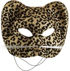 Leopardenmaske Leopard Raubkatze Tiermaske Dschungel
