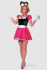 Minnie modern Maus Damenkostüm Faschingskostüm Karneval Kostümfest