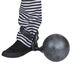 Fußschelle mit Kugel Zubehör Sträfling Häftling Karneval Mottoparty