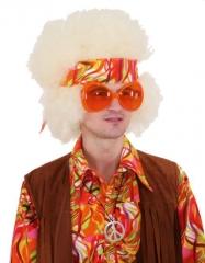 Brille Partybrille orange groß Schlagerparty 70er Jahre Mottoparty