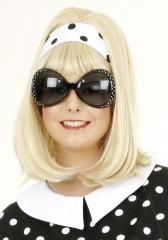 Sixties Brille Rock´n Roll 70er Jahre Partybrille große Gläser