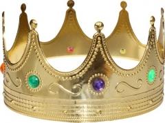 Königskrone gold Zubehör Faschingsparty König Prinz Adliger Krone