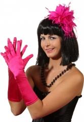 Satin Handschuhe Damen Kostümfest Accessoires Fasching Zubehör Karneva