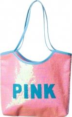 Tasche Pailletten Pink Fasching Party Accessoires Disco Zubehör