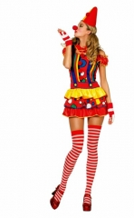 Clown Clownin Clownkleid Damenclown Zirkus Arena 34 bis 46