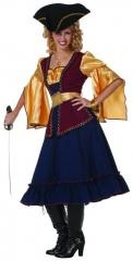 Piratin Hawekye Seeräuberin Verkleidung Faschingsparty Kostümfest