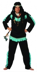 Indianer aqua Wishbone Wilder Westen Karneval Fasching Mottoparty