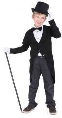 Frack Kinderfrack schwarz Zirkusdirektor Zauberer 128 140 152 164