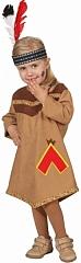Indianer Mädchen Kleid Squaw Kinderkostüm Fasching