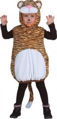 Tiger Weste mit Kapuze Kinderkostüm Gr. 104 Tierkostüm Faschingskostüm