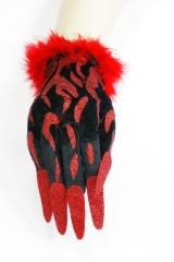 Handschuhe mit Fingernägeln Damenhandschuhe Fasching
