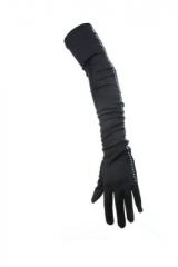 Handschuhe mit Strasssteinchen Fasching Karneval Motto