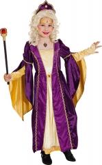 Renaissance Prinzessin lila gold Mittelalterprinzessin Mädchenkostüm
