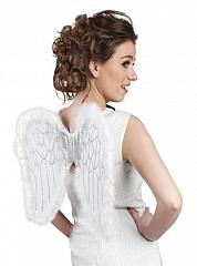 Engelsflügel weiß mit Glitter Christkind Engel