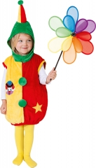 Clown Weste mit Kapuze Kinderclown Faschingsclown Spaßmacher Kinderzir