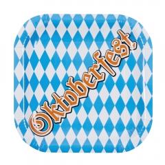 Oktoberfest Bavaria Set 6 Teller Oktoberfestteller 25x25 cm rechteckig