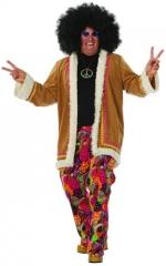 Hippie Hose mit langem Mantel Schlagerparty Mottoparty 60er 70er Jahre