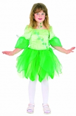 Elfe Fee Wiesenfee Kinderelfe Kleid mit Flügeln 104 116 128