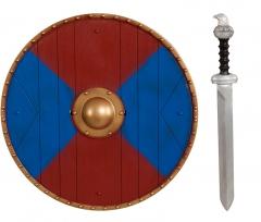 Wikinger Set Erwachsene Schild Schwert Mittelalter Accessoires Faschin