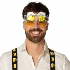 Bierbrille Bierglas Partybrille Fasching Karneval Mottoparty Funbrille