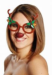 Rentier Elch Rudolph Elchgeweih Partybrille Weihnachten Nikolaus