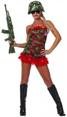 Army Lady Camouflage Damenkostüm Faschingsverkleidung Kostümfest