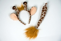 Giraffenset Faschingszubehör Karnevalsparty Verkleidung Kostümfest