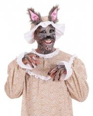 Wolf Wolfsmütze mit Ohren Märchen Karneval Fasching Kostüm