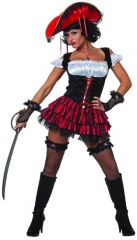 Piratin sexy Seeräuberin Faschingskostüm Mottoparty Karneval Kostüm