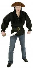 Pirat Piratenhemd schwarz Karneval Fasching Kostüm