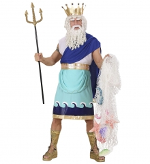 Wassermann Neptun Poseidon Herrenkostüm Gr. XL