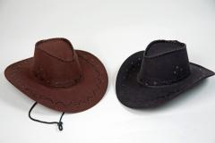 Cowboyhut Western Kunstleder Karneval Fasching Party
