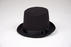 Schwarzer Zylinder Herrenzylinder Gr. 61 Kostümzylinder Hut