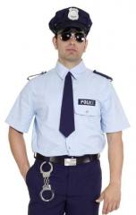 Policehemd Polizeihemd Herrenhemd Polizist Faschingsparty Hemd