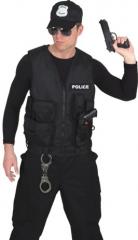 Polizist Policeweste Polizeiweste Karneval