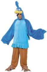 Lustiger blauer Vogel Einteiler Herrenkostüm Junggesellenabschied Karn
