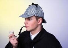 Sherlock Mütze Detektiv Karneval Fasching Kostüm Party