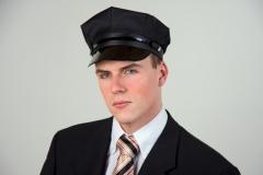 Chauffeursmütze schwarz Karneval Fasching Zubehör