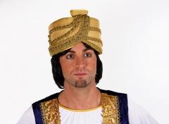 Turban gold Aladin Scheich Kalif Sultan heilige drei Könige