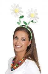 70er 80er Zubehör Blumenhaarreif Flower Schlager Party Mottoparty