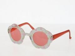 Hippie Blümchenbrille 70er Jahre Schlagerparty Karneval