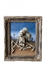 Skelett Geist Grusel Bild Halloween Deko Grusel Party