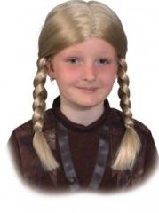 Perücke Wikinger Mädchen Kinderperücke Zopf Kopfbedeckung
