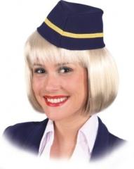 Mütze Flugbegleiterin Stewardess Kopfbedeckung Damenmütze