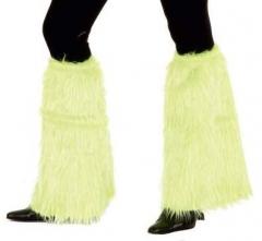 Plüschstulpen Beinstulpen viele Farben 70er Schlager Mottoparty