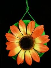 70er Jahre Hippie Plüschtasche Blume Sonnenblume Schlagerparty