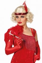 Perücke blond Charlestonperücke mit Stirnband Tweentys 20er Jahre