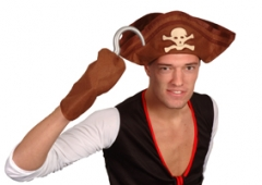 Pirat Piratenhut + Haken Karneval Fasching Kostümparty