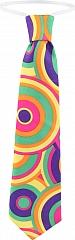 Hippie Party Krawatte 70er Jahre Flower Power verschiedene Farben